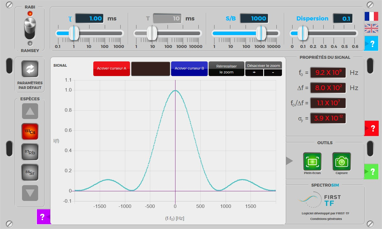 SPECTROSIM : simulateur de l'interaction entre un atome à deux niveaux et un rayonnement