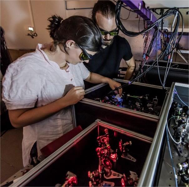 Alignement de lasers sur le banc…